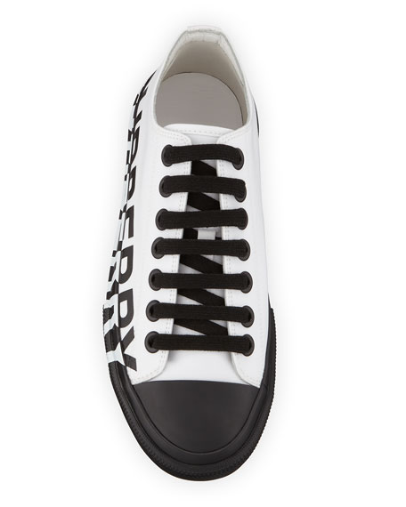 Burberry Larkhall Low-Top Canvas Logo Sneakers