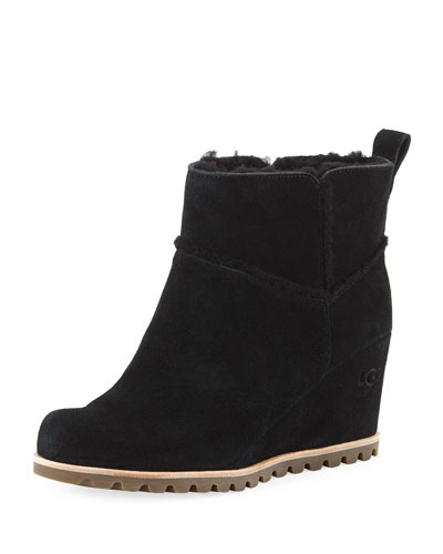 Marte Wedge Suede Booties
