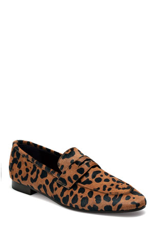 Bougeotte Leopard Calf Hair Loafers