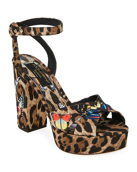 Dolce & Gabbana Leopard and Butterfly Sandals