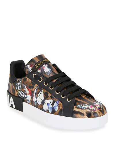 Leopard and Butterfly Sneakers