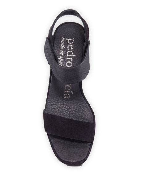 Pedro Garcia Farrah Wedge Calf Sandals