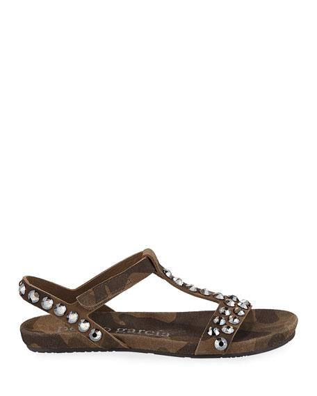 Pedro Garcia Jeril Embellished T-Strap Sandals