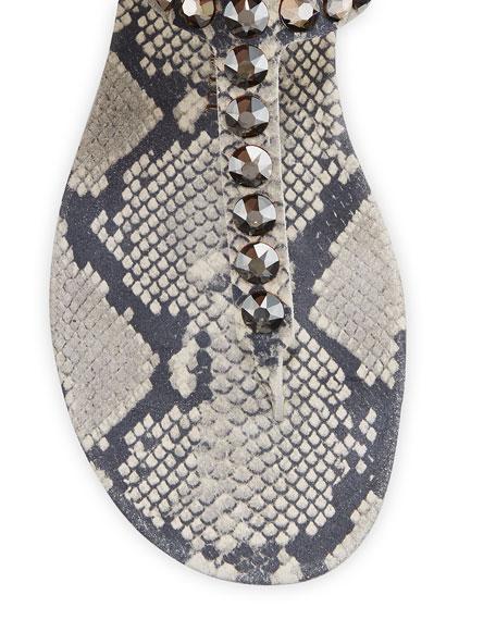 Pedro Garcia Judith Embellished Thong Sandals
