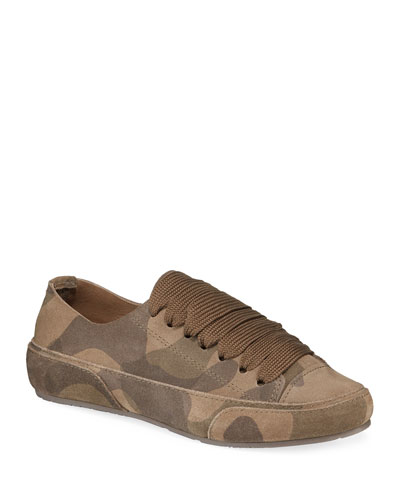 Pavel Lace-Up Camo Sneakers