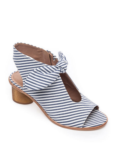 Bernardo Sandals LUNA STRIPED KNOTTED SANDALS
