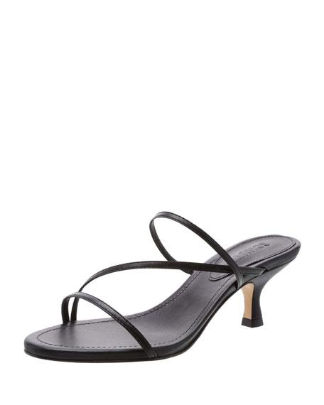 Evenise Strappy Kitten Heel Leather Sandals by Schutz