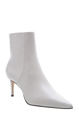 Schutz Leather Kitten-Heel Ankle Booties
