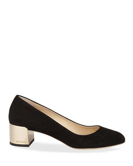 Jimmy Choo Jessie Suede Slip-On Pumps