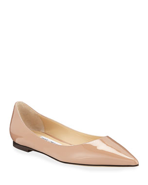 3509225d3f2 Jimmy Choo Love Patent Ballet Flats