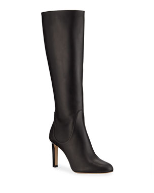 70eba3bbd3c Jimmy Choo Tempe Leather Knee Boots
