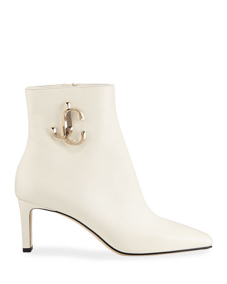 Jimmy Choo Minori Smooth Leather Booties