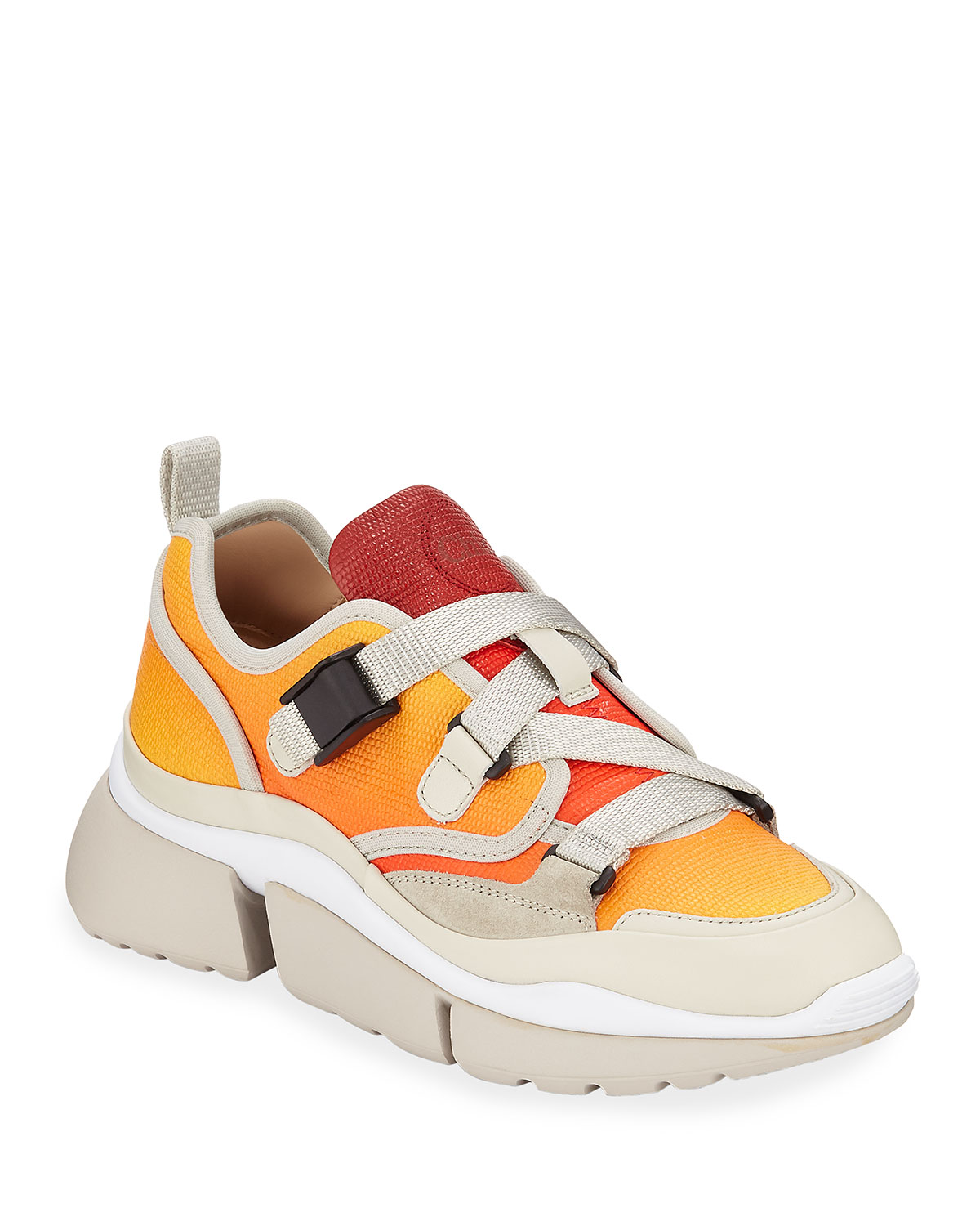 911da191e895 Chloe Sonnie Low-Top Ombre Leather Sneakers