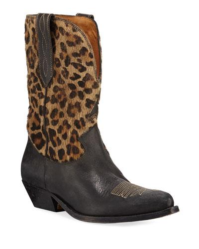 Wish Leopard Star Low Boots