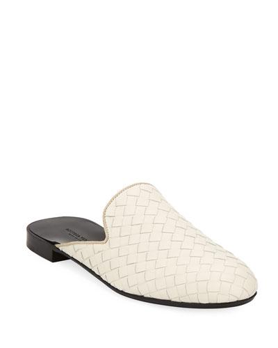 Woven Napa Leather  Flat