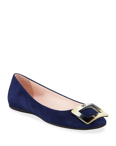 Gommette Horn Buckle Flats