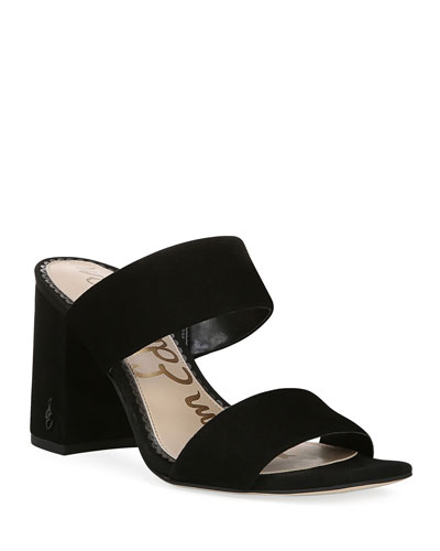 Delaney Suede Slide Sandals