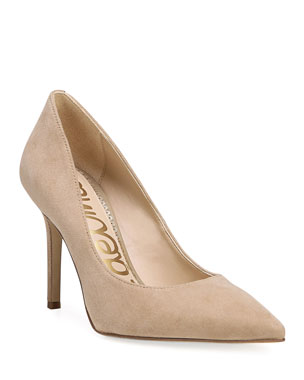 eb67d8d8a Sam Edelman Hazel Suede Point-Toe Pumps