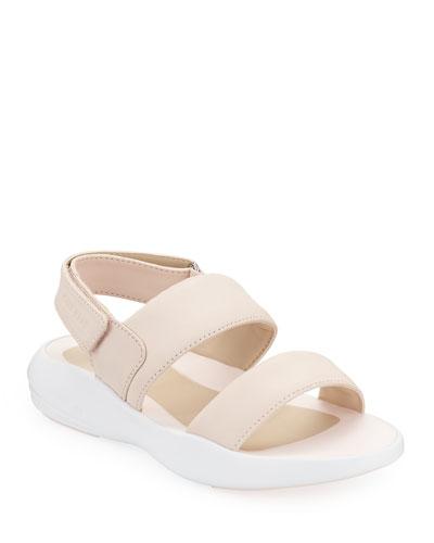Ella Grand Leather Slingback Sandals  Pink