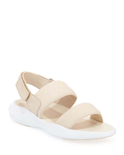 Ella Grand Leather Slingback Sandals  Sand