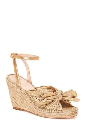 Loeffler Randall Charley Bow Wedge Sandals