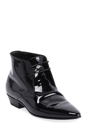 Saint Laurent Jonas Lace-Up Booties