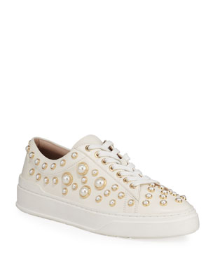 33b86c508f20 Stuart Weitzman Pearline Platform Lace-Up Sneakers