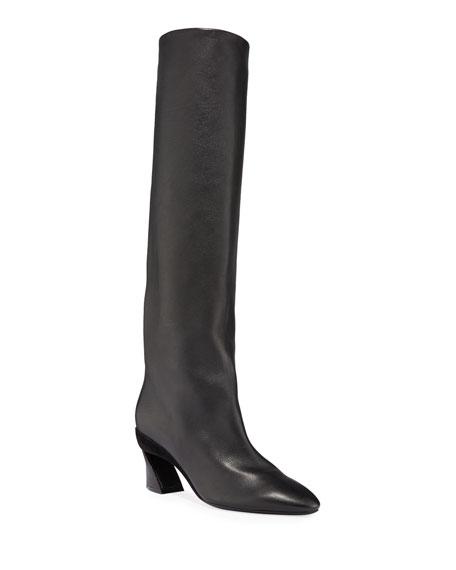 Salvatore Ferragamo Antea Leather Knee Boots