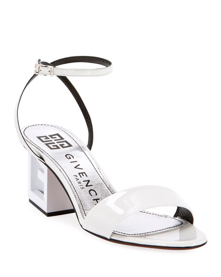 Givenchy Triangle Patent Strappy Sandals