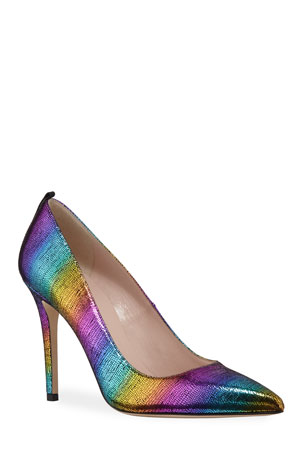 SJP by Sarah Jessica Parker Fawn Rainbow Metallic High-Heel Pumps