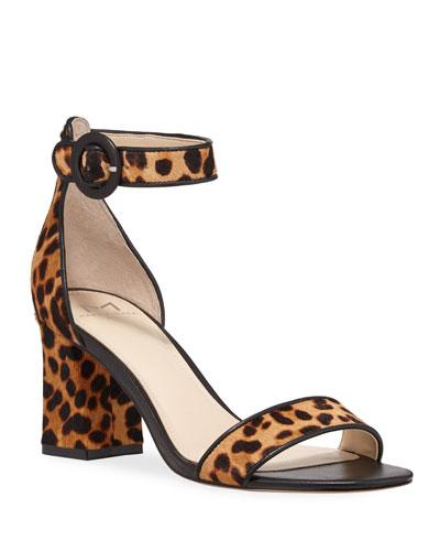 Karleely Leopard-Print Sandals