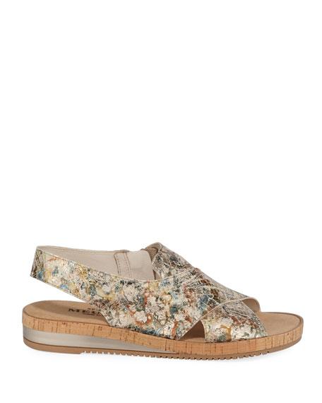 Sesto Meucci Sabita Metallic Leather Comfort Sandals