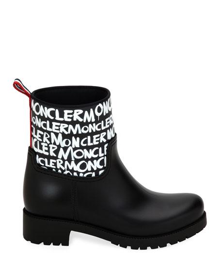 Moncler Ginette Stivali Logo Rain Boots