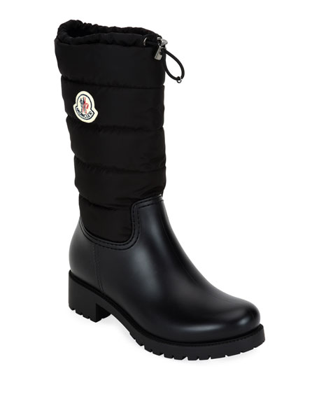 Moncler Ginette Stivali Quilted Tall Boots