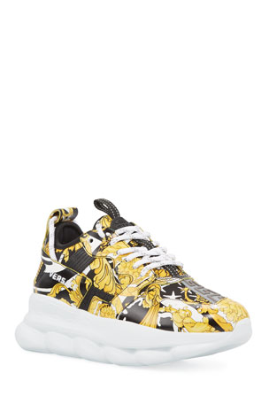 Versace Savage Barocco Chain Reaction Sneakers