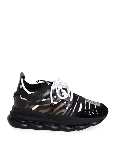 Versace Zebra Chain-Reaction Sneakers
