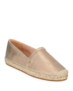 9e13a1a0923c Coach Casey Metallic Leather Slip-On Espadrilles