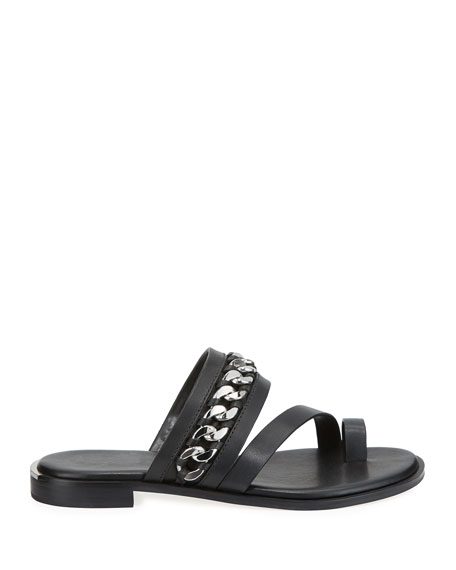 MICHAEL Michael Kors Bergen Flat Leather Chain Sandals