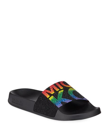 Michael Michael Kors Gilmore Rainbow Slide Sandals