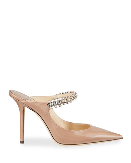 Image 2 of 3: Jimmy Choo Bing Patent Crystal-Strap Pumps