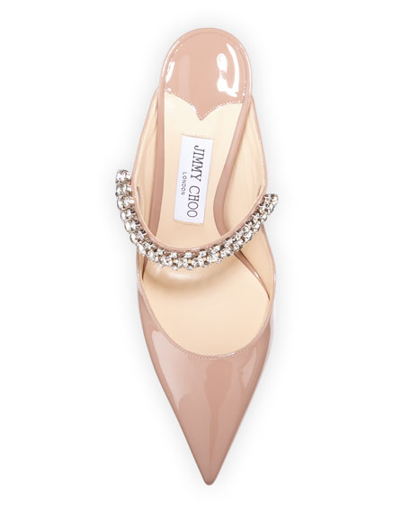 Image 3 of 3: Jimmy Choo Bing Patent Crystal-Strap Pumps