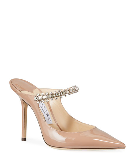 Image 1 of 3: Jimmy Choo Bing Patent Crystal-Strap Pumps