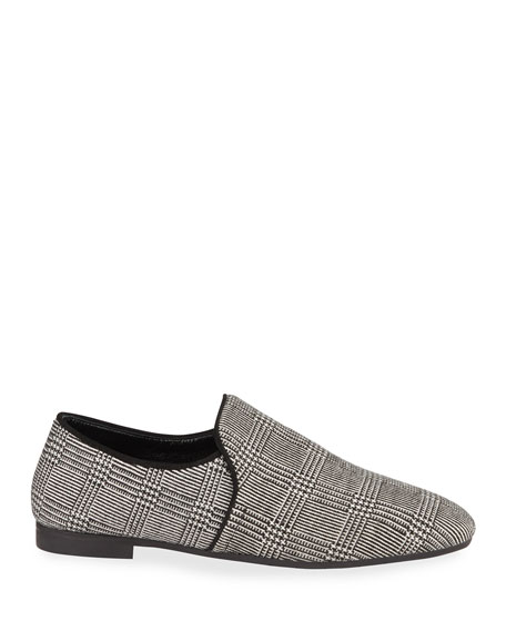 Aquatalia Revy Plaid Slip-On Loafers