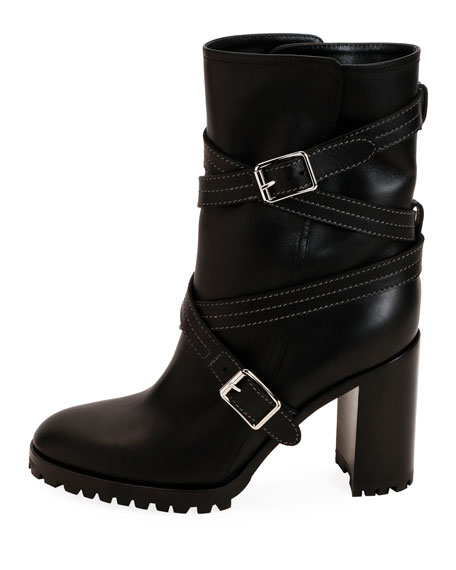 Gianvito Rossi Calf Leather Wrapped Boots