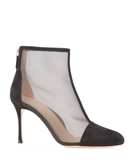 Marion Parke Dolby Suede and Mesh Booties