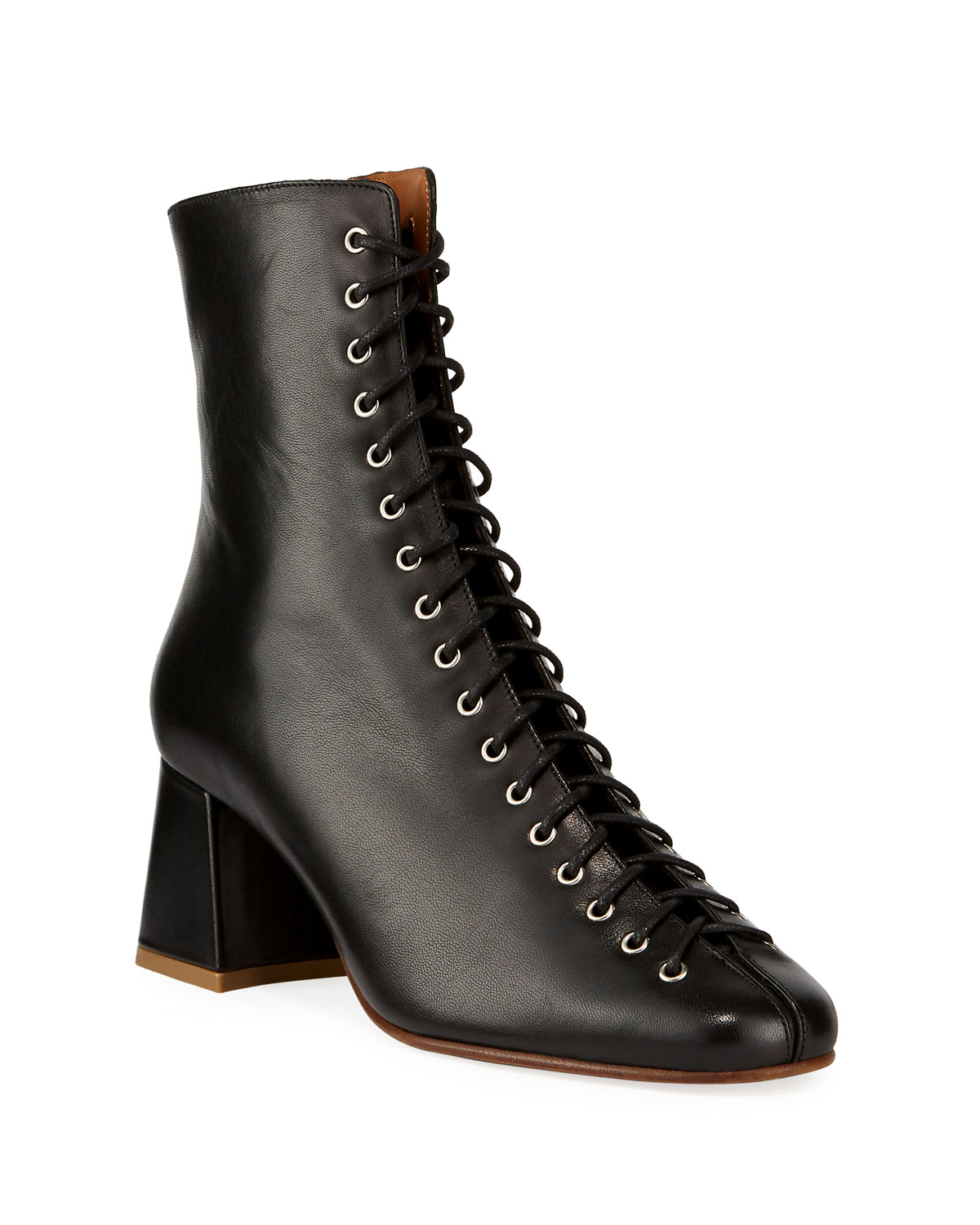 Becca Smooth Laced Booties by BY FAR, available on neimanmarcus.com for $583 Emma Roberts Shoes Exact Product