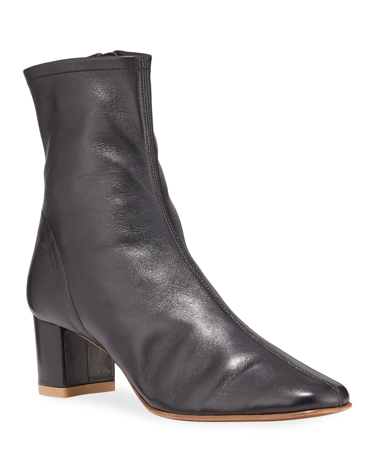 sofia-leather-ankle-booties by by-far