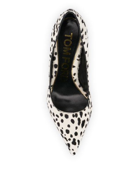 TOM FORD Spotted Calf Hair Pumps