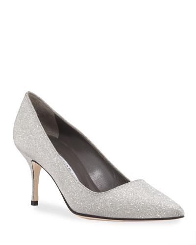 BB Fabric Glitter Pumps
