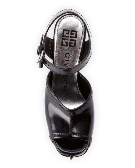 Givenchy Show Shiny Platform Sandals